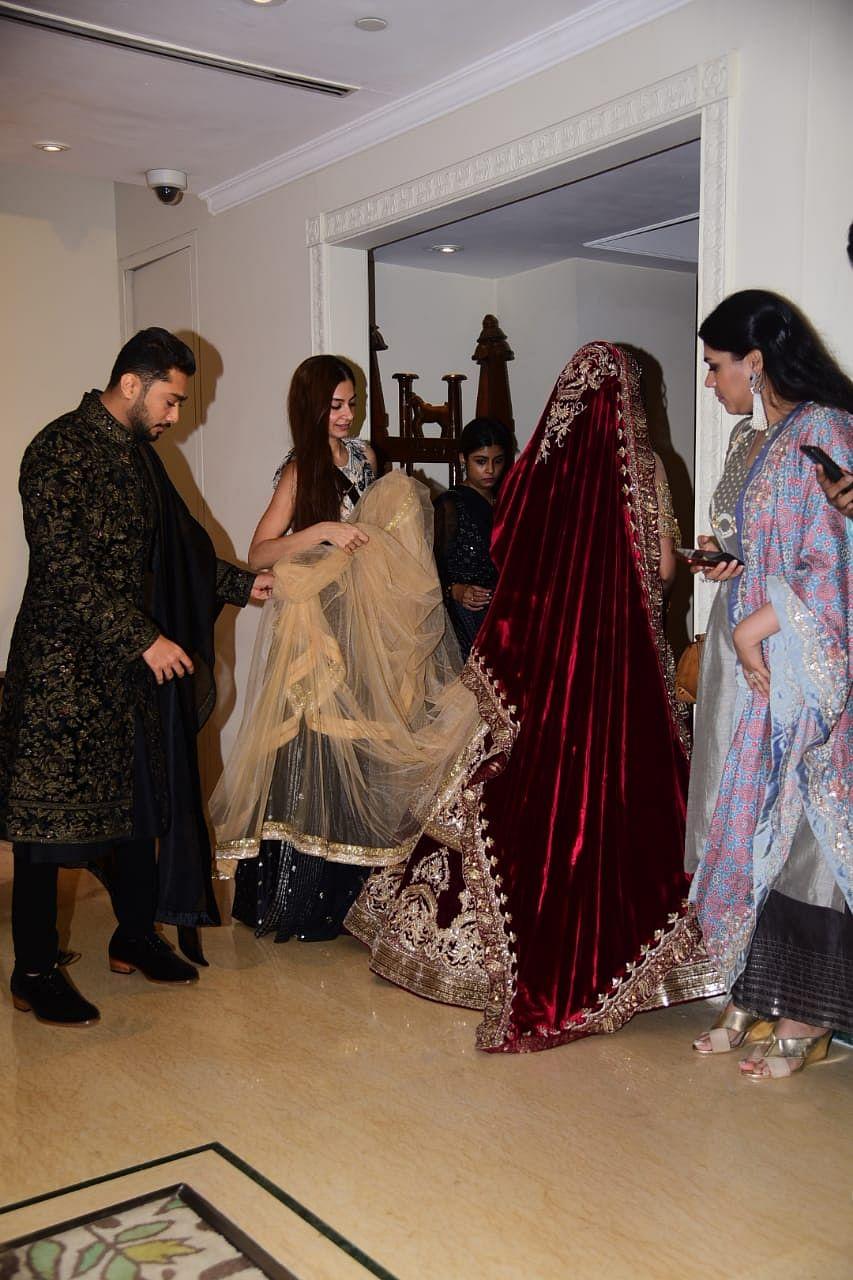 #GaZa: Sanjay Leela Bhansali, Hussain Kuwajerwala and others attend Gauahar Khan, Zaid Darbar's reception; see pics