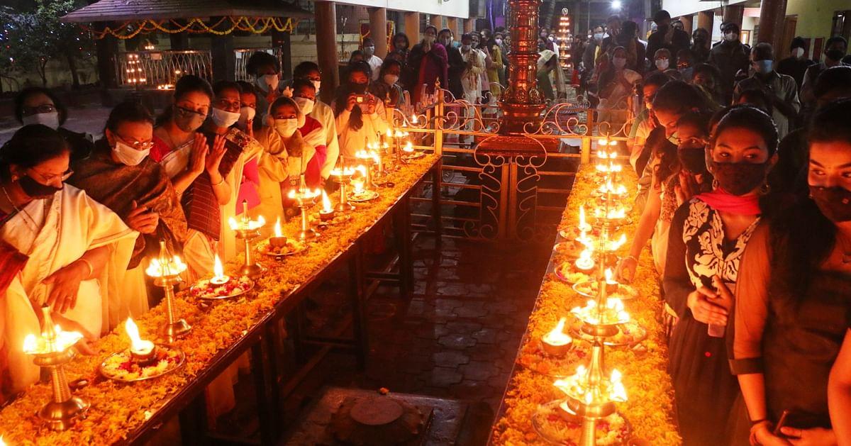 Worship of 41st day of Mandala Puja at lord Ayyappa temple, Mahalaxmi Nagar. Pic for representation