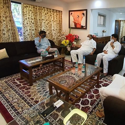 NCP chief Sharad Pawar, Maharashtra deputy CM meet Sanjay Raut to enquire about his health