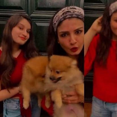 Watch: Raveena Tandon shakes a leg to Yashraj Mukhate's 'Tuada Kutta Tommy' remix with daughter Rasha
