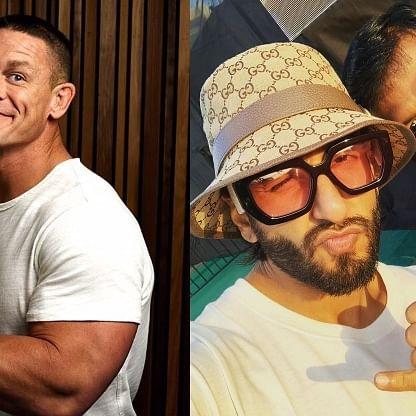 John Cena shares Ranveer Singh's pic, leaves 'Gully Boy' actor amused