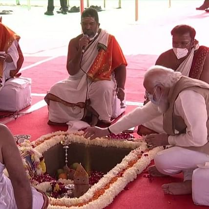 Central Vista project: PM Modi lays foundation stone for new Parliament building