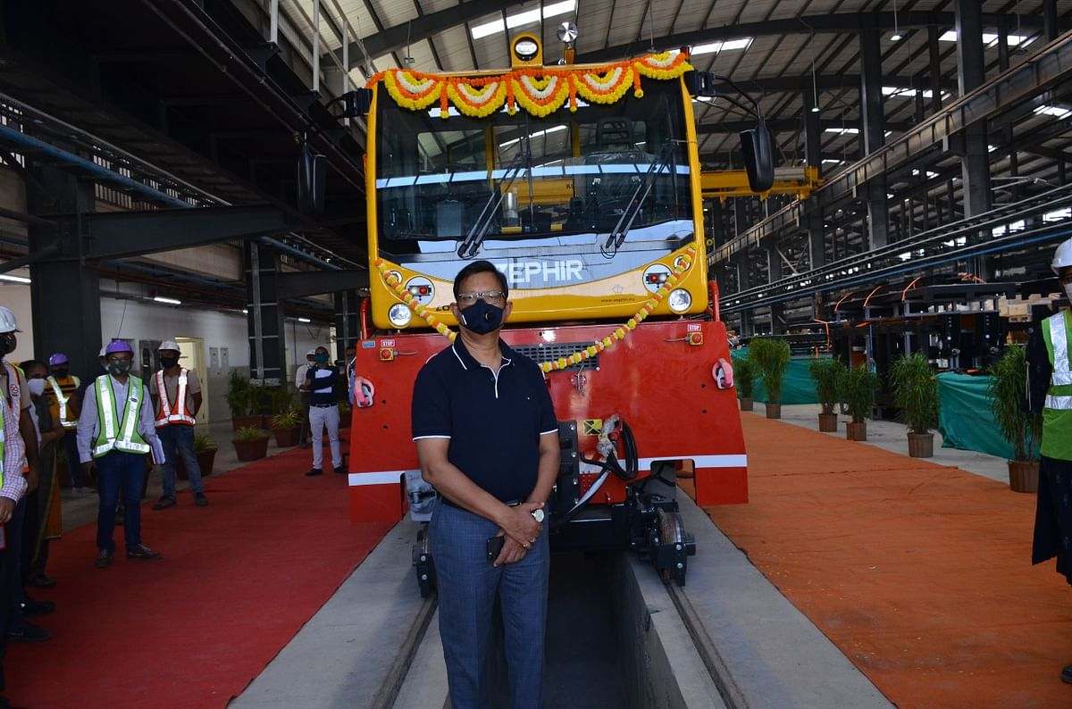 Charkop Metro car depot of Line 7 & 2A nearly complete