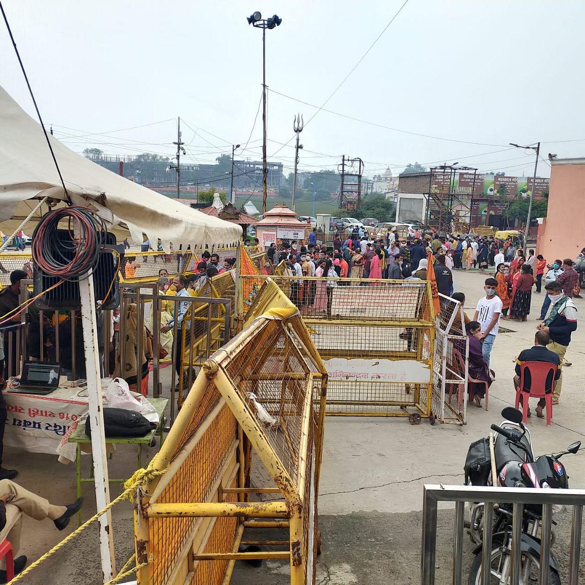 Ujjain: Renovation underway at Mahakal temple premises
