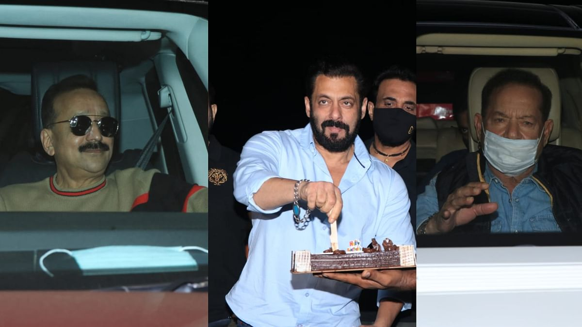 In Pics: Baba Siddique, Zeeshan Siddique, Sunil Grover and others attend Salman Khan's intimate birthday bash