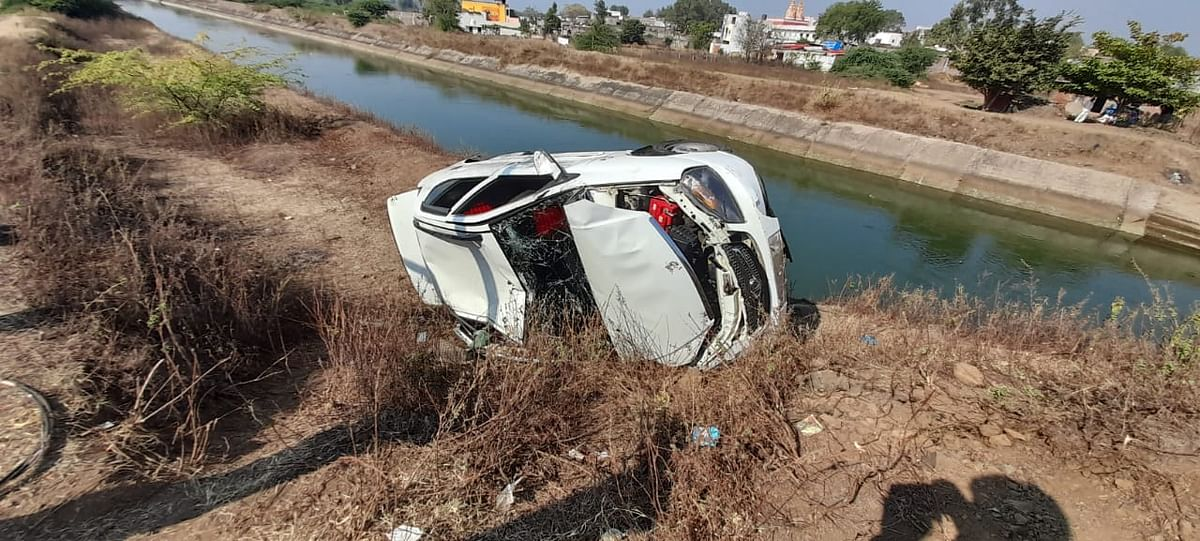 Car accident in Omkareshwar