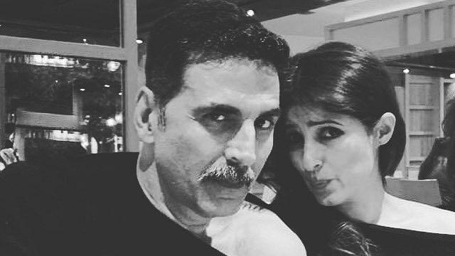 Akshay Kumar makes fun of Twinkle Khanna's sartorial choice, latter's 'cold shoulder' pun leaves internet in splits
