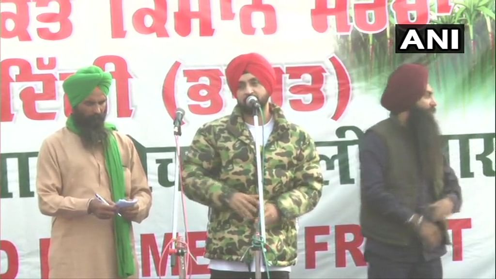 Diljit Dosanjh reaches Singhu border; urges govt to accept farmers' demands