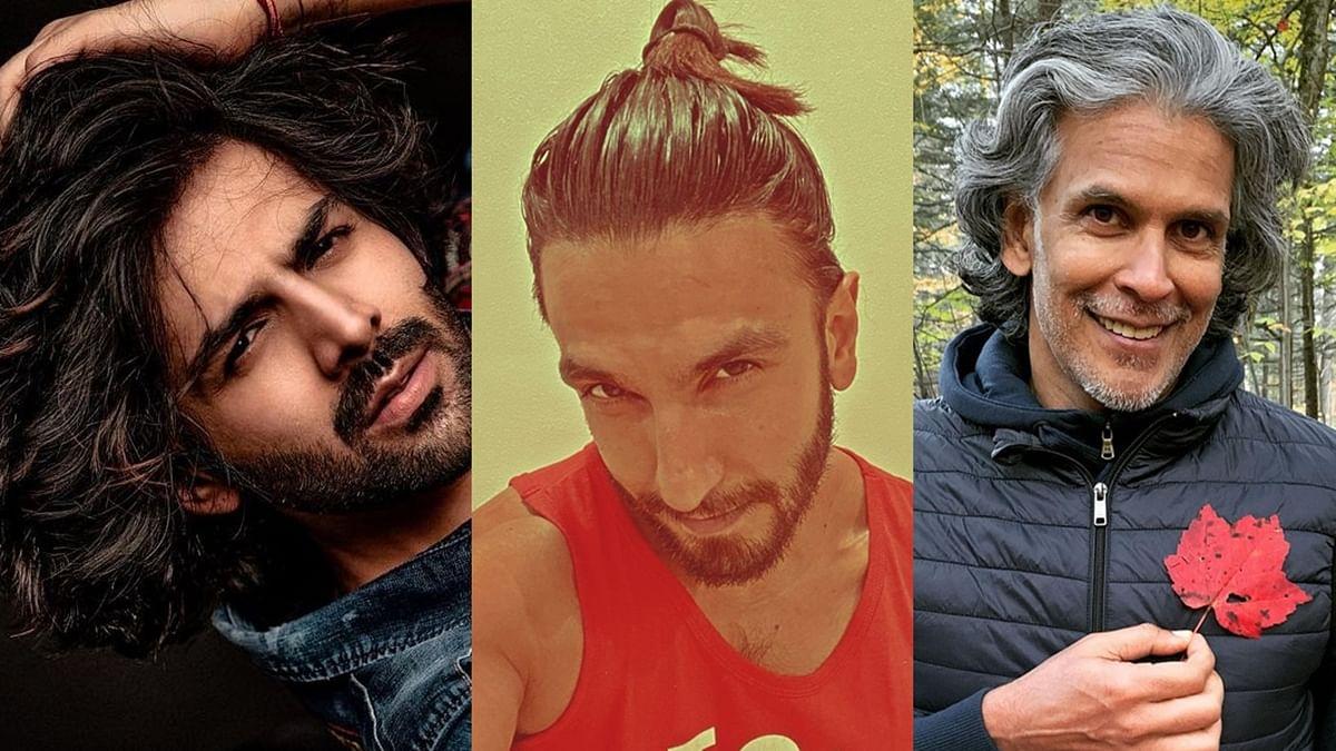 From Ranveer's man-bun to Kartik's long locks - actors who let their hair grow amid lockdown