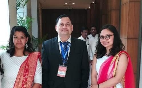 Dr Hem Chandra Jha with his research team members