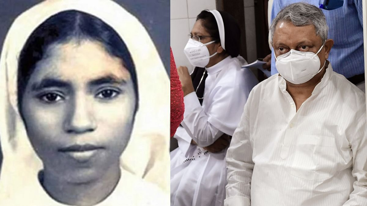 Father Thomas Kottoor and Sister Sephy (R), who were pronounced guilty by a CBI Court over the murder of Sister Abhaya (L) in 1992, being taken to the prison after COVID-19 test in Thiruvananthapuram.