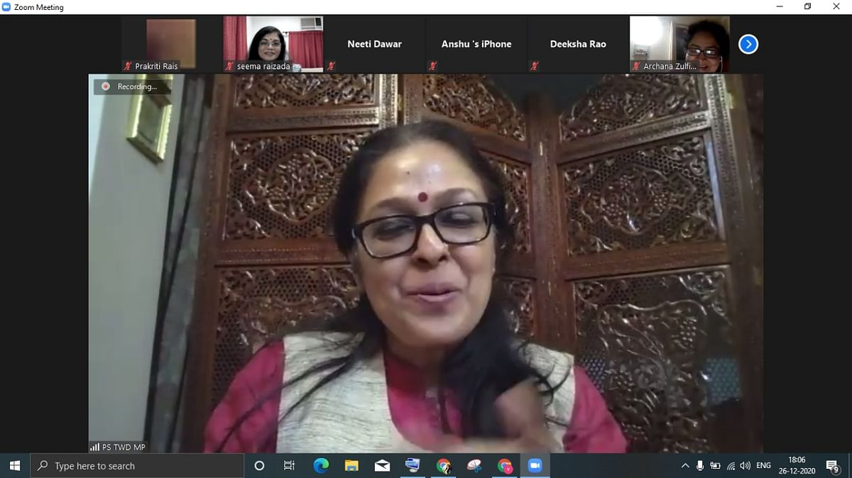 IAS Pallavi Jain Govil particpating in a book discussion