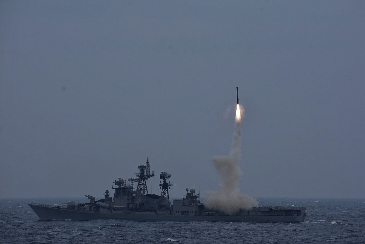 BrahMos Anti-Ship missile successfully launched from INS Ranvijay