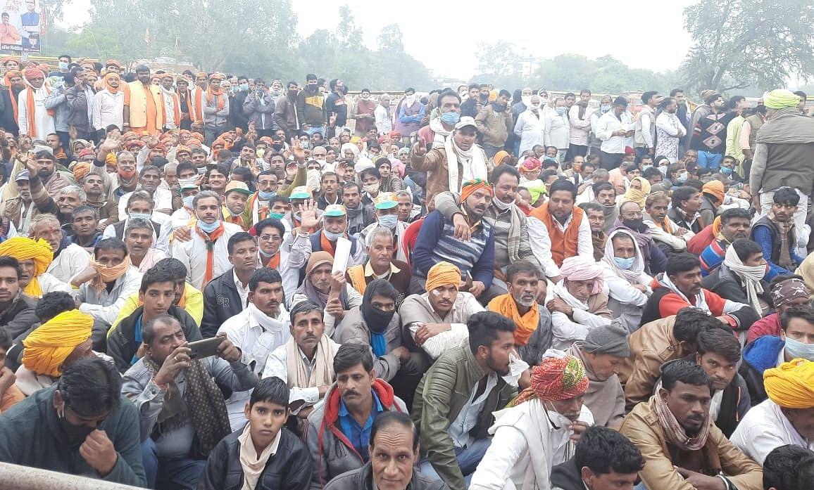 Madhya Pradesh: Covid norms at bay at the BJP-sponsored Kisaan Sammelan in Ujjain
