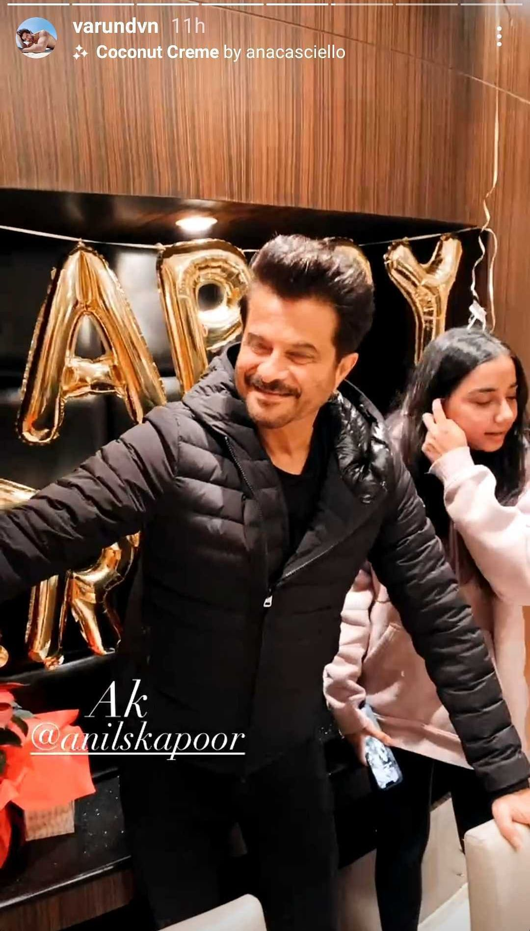 In Pics: Anil Kapoor celebrates 64th birthday with Kiara Advani, Varun Dhawan while filming 'Jug Jugg Jeeyo'