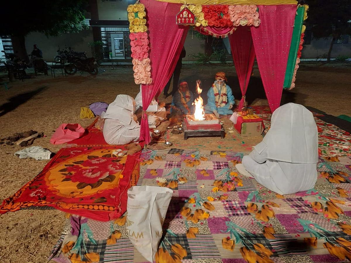 Rajasthan: Wedding in PPE kits after bride tests positive