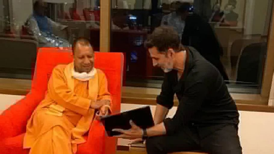 UP CM Yogi Adityanath arrives in Mumbai, dines with Akshay Kumar