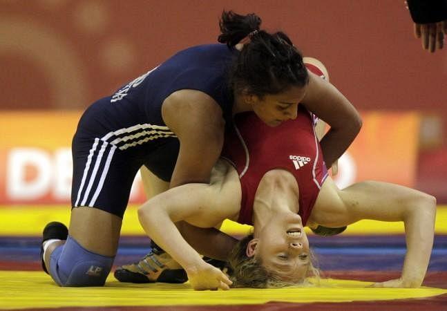 Geeta Phogat in action