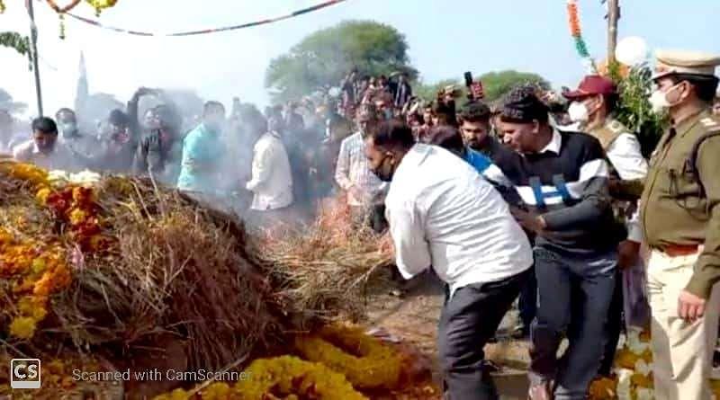 Havildar Mukesh Patel cremated at his ancestral Chidawat village near Sonkatch in Dewas district on Thursday