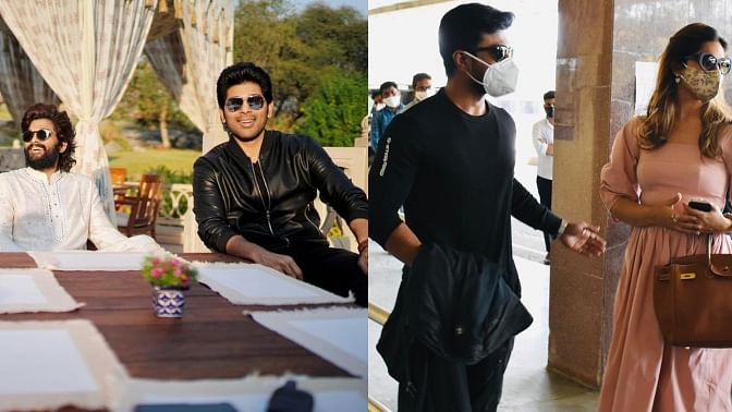 Allu Arjun, Ram Charan and others in Udaipur to attend Niharika Konidela's wedding; see pics