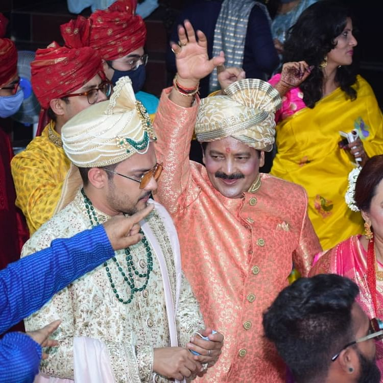 Aaditya Narayan marries Shweta Agarwal: Udit Narayan dances to his heart's content in son's baraat; see pics