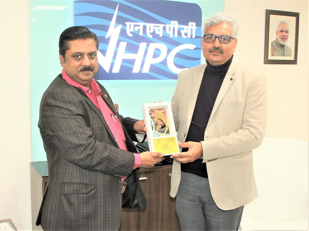 NHPC awarded 'Best Performing PSE' at PRAKASHmay 13th Enertia Awards 2020