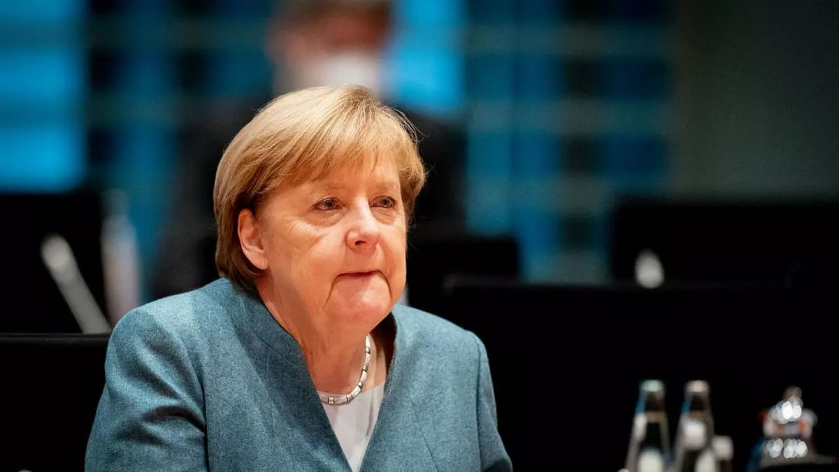 Germany's Angela Merkel gets flustered after forgetting her mask; 'she is real,' says Twitter on viral video