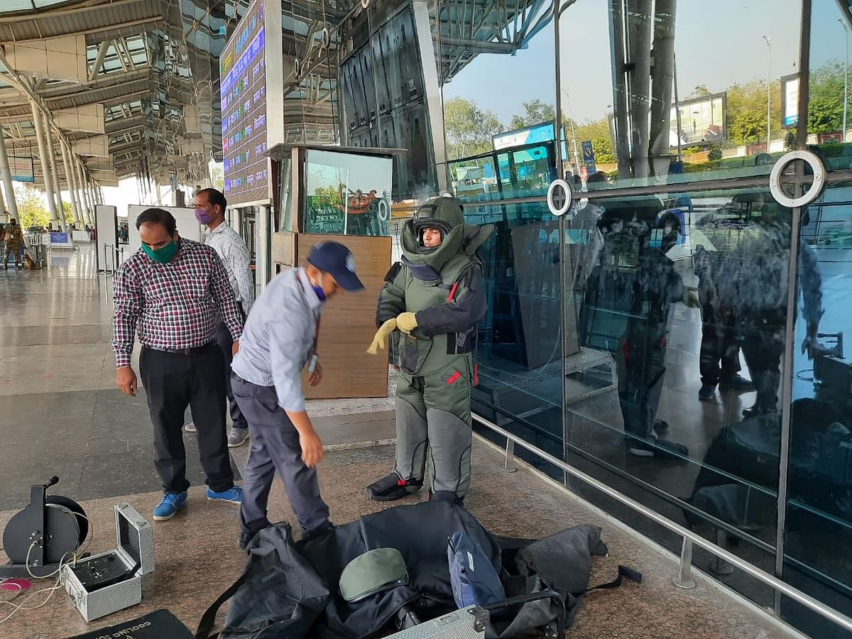 Indore: Security Evacuation Drill conducted at Indore airport