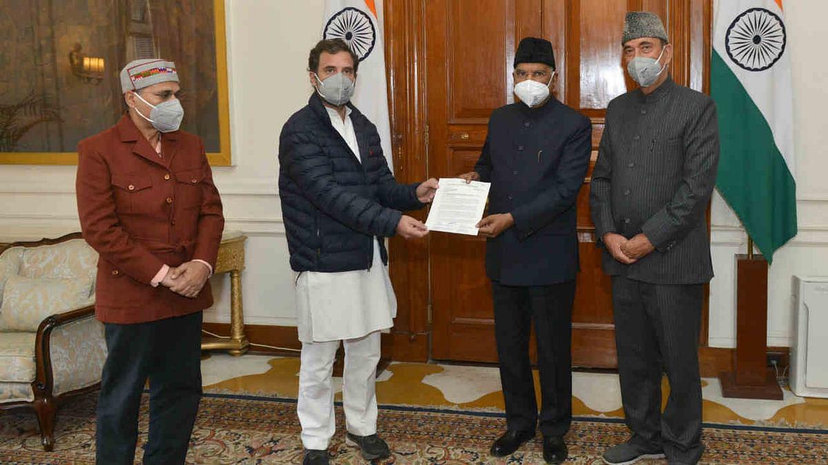 Rahul Gandhi meets President Kovind over farm laws, present 2 crore signatures from farmers