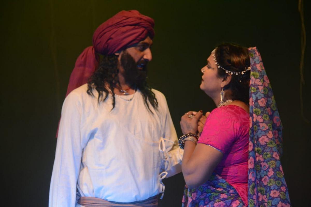 Still from the play 'Jannayak Tantya Mama', story of Robin Hood of India.