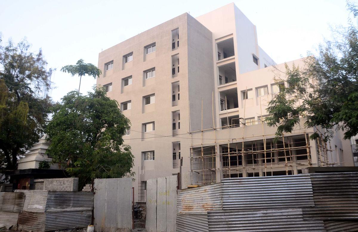Under construction Katju Hospital in Bhopal