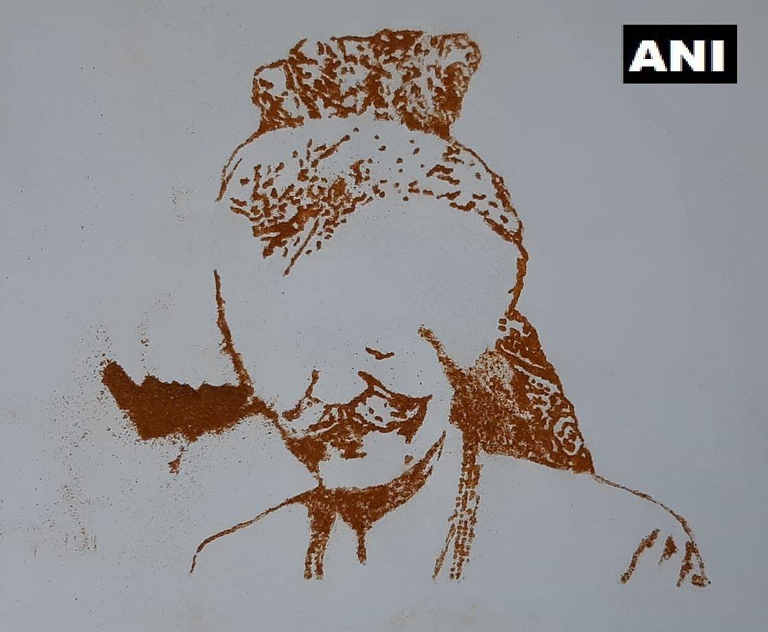 Visual artist Varun Tandon pays tribute to MDH owner Mahashay Dharampal Gulati, makes portrait using spices; see pics