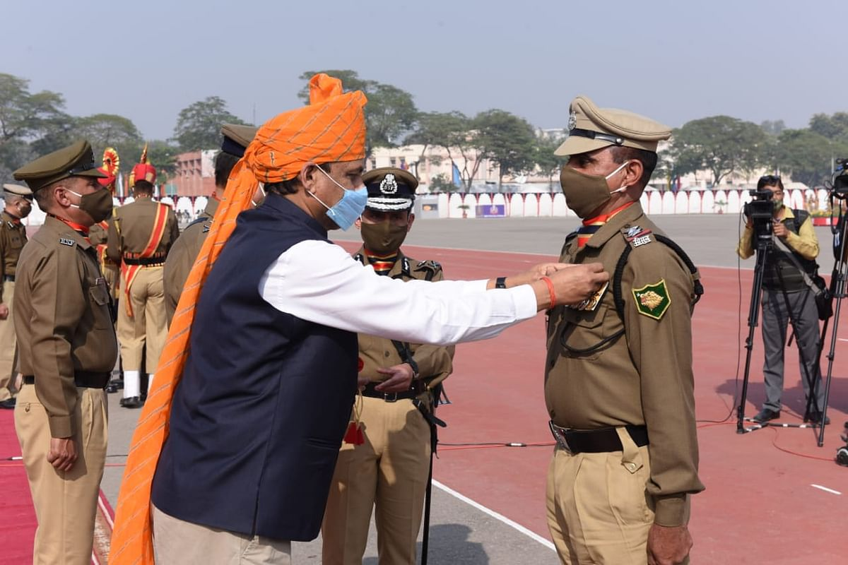 Union MoS for Home Nityanand Rai takes salute of the BSF Ceremonial Parade-2020 on the occasion of its 56th Raising Day