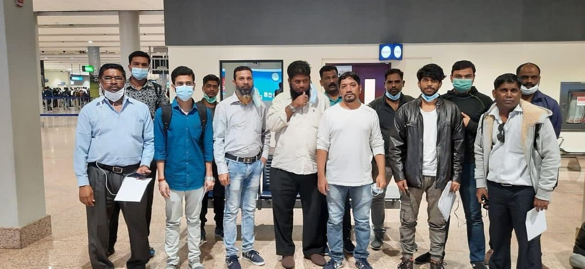 Released by Houthis in Yemen, 14 Indian seamen fly back home from Dubai
