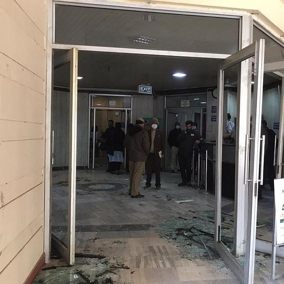 AAP MLA Raghav Chadha's DJB office vandalised, party blames 'mob led by Delhi BJP chief'