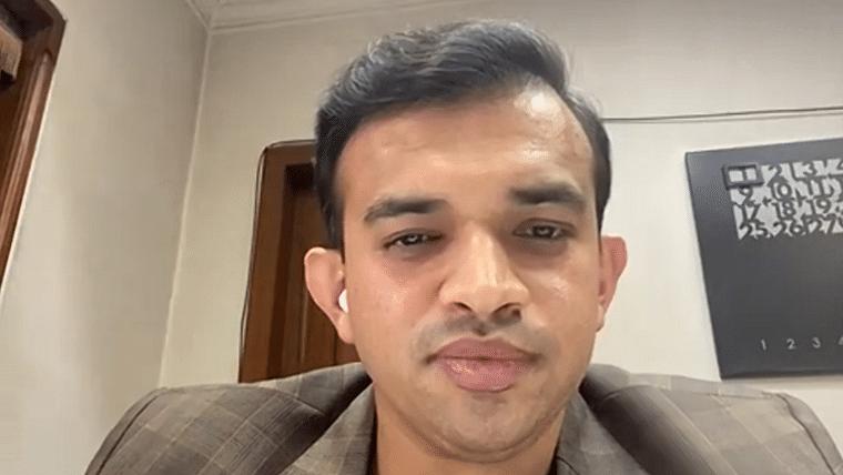 Entrepreneur Rajat Bhargava addressing students in virtual seminar