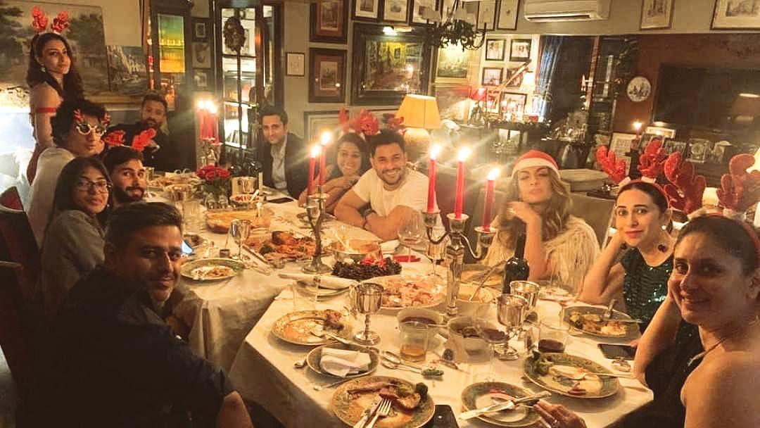 Kareena Kapoor celebrates Christmas eve with Karisma, Saif