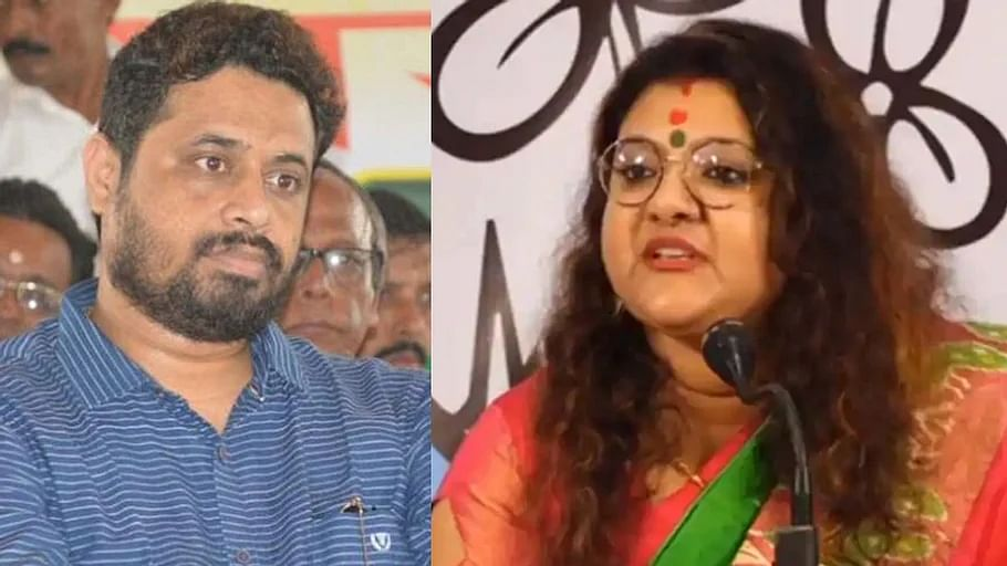 BJP MP Saumitra Khan (LP) has also asked his wife Sujata (R) to not use his surname anymore