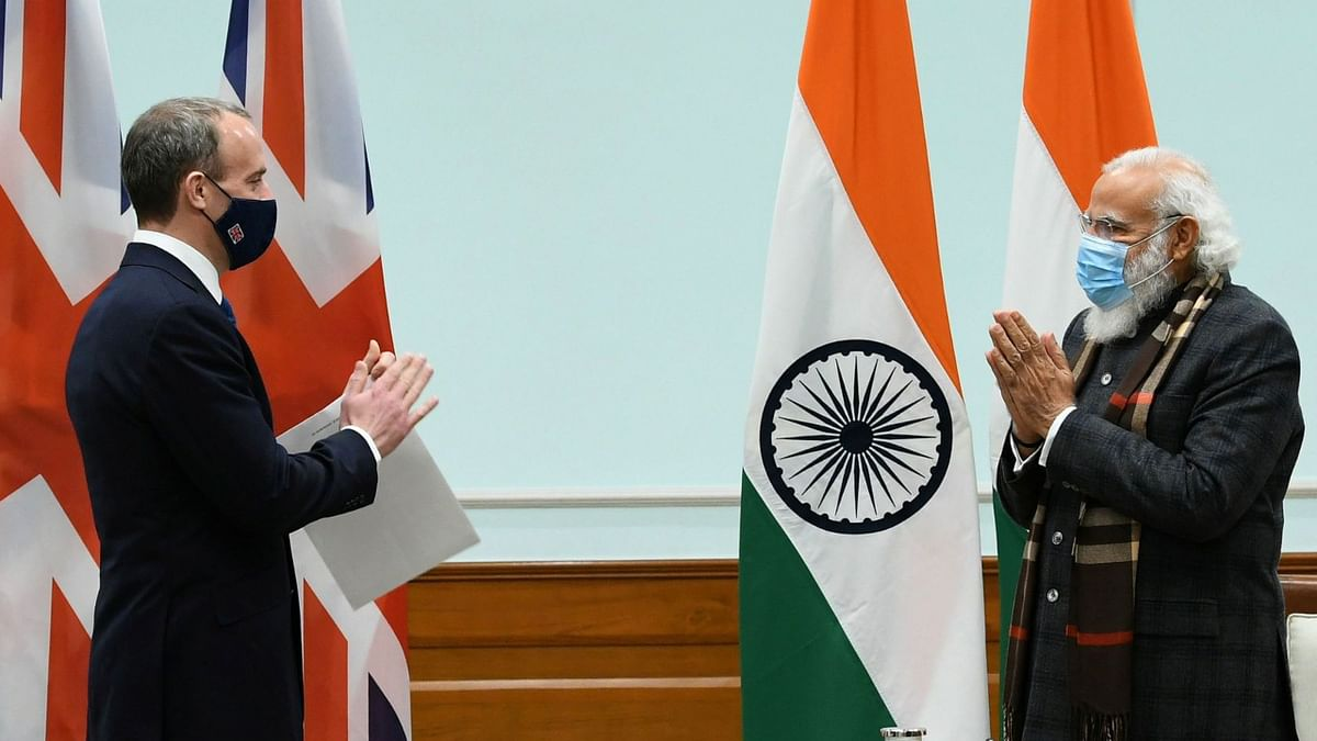 PM Modi met UK Foreign Secy Dominic Raab on Wednesday to discuss the vast potential of the India-UK partnership in the post-COVID, post-BREXIT world.