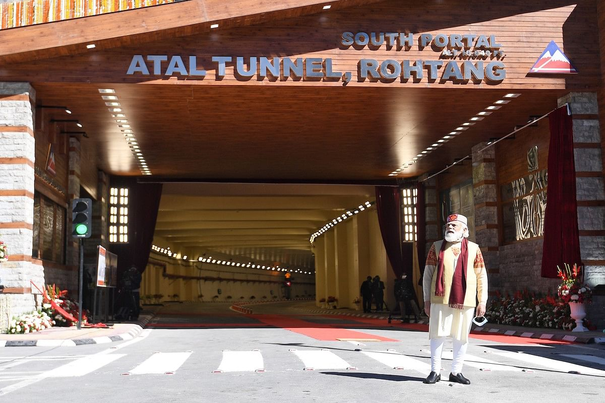 File image of  inauguration of 9.02 kilometre long Atal Rohtang tunnel by PM Narendra Modi