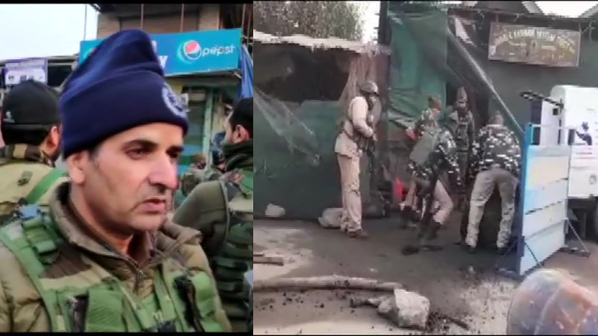Khalil Poswal (L), the SSP of Ganderbal in J&K said that the CRPF party was patrolling the Duderhama region in Ganderbal when they were met with grenades lobbed by the militants.