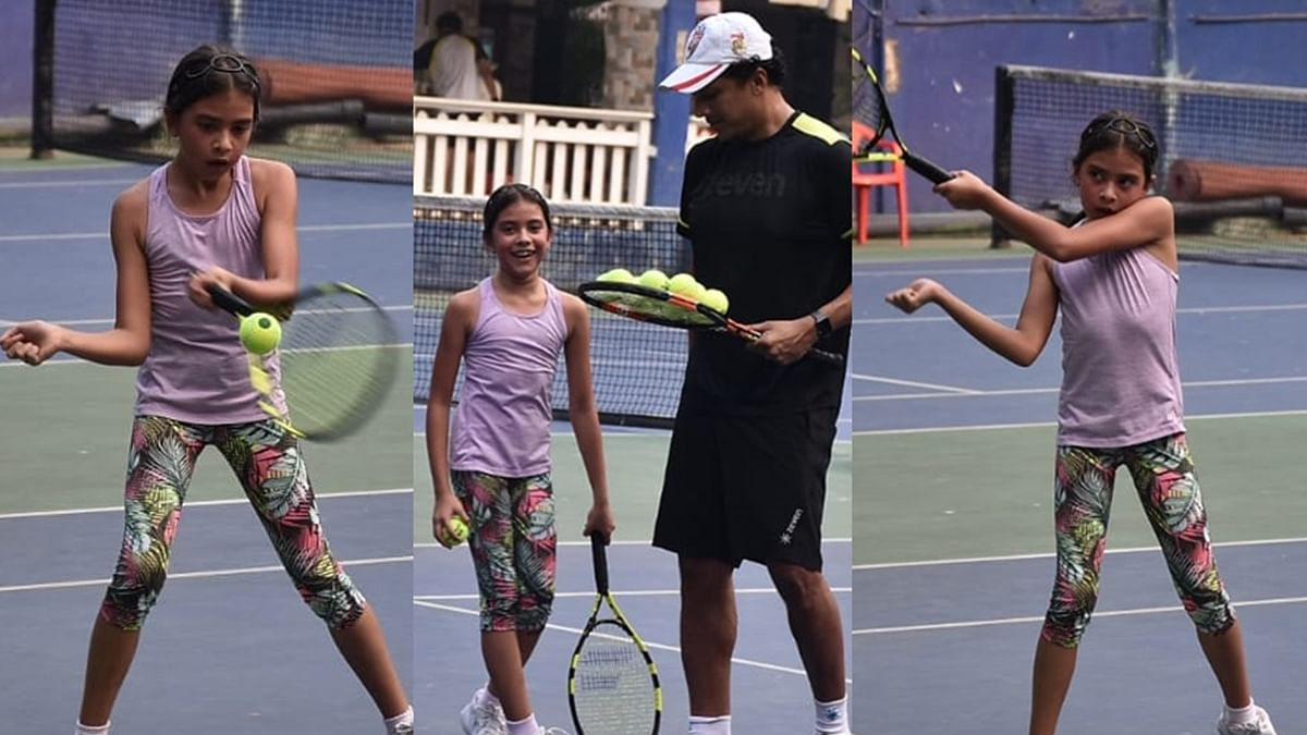 In Pics: Lara Dutta's daughter Saira plays tennis with dad Mahesh Bhupathi