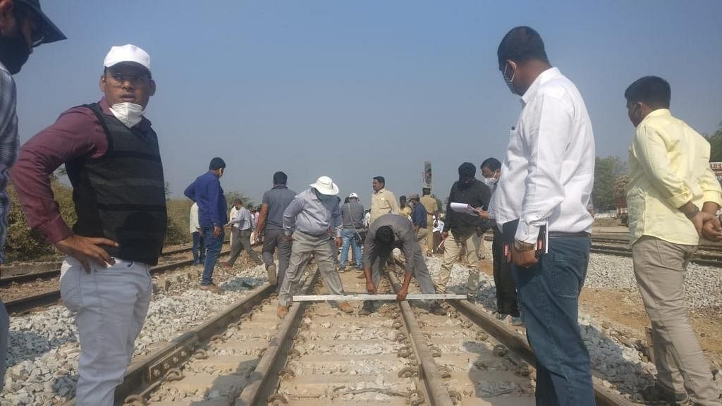 South Western Railway Commissioner of Railway Safety inspects double line track between Harihar and Devaragudda stations