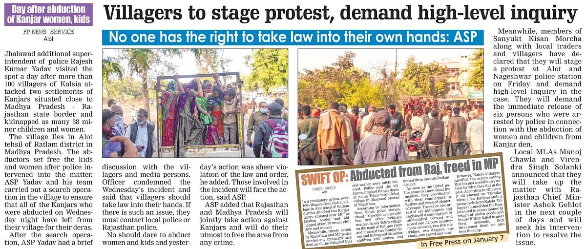 Madhya Pradesh: Farmers protest against Kanjar menace