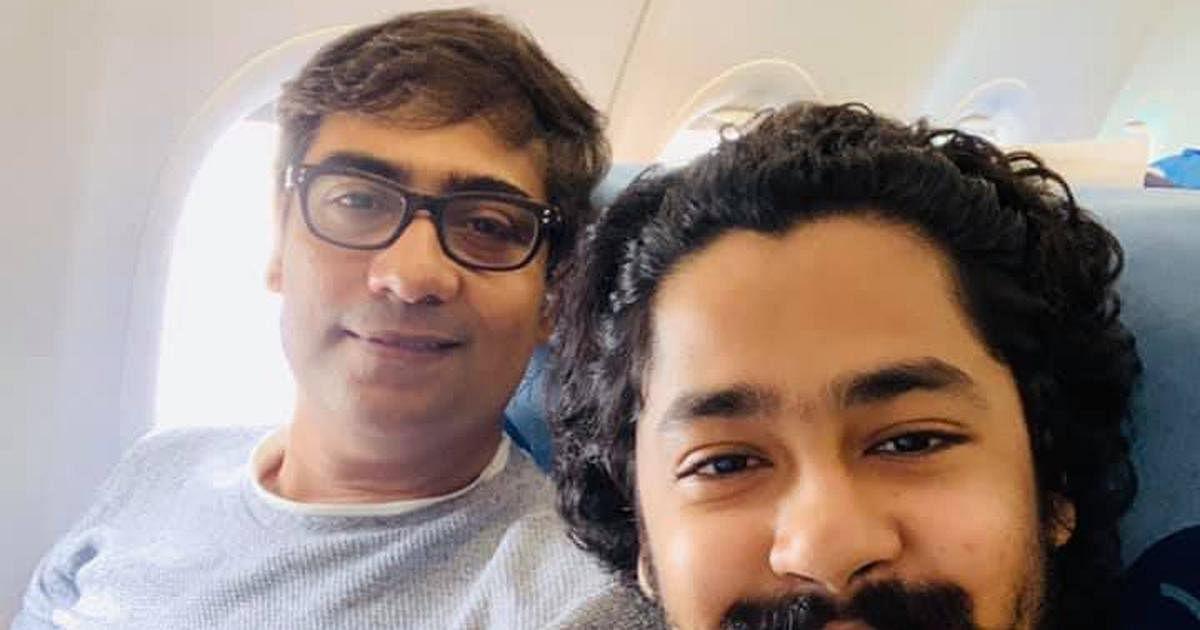 Director-actor Kaushik Sen (left)