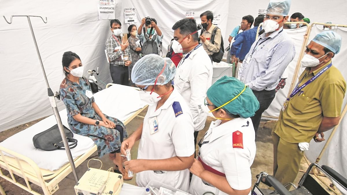 Mumbai civic body aims on crowd management during vaccine jabs at all centres