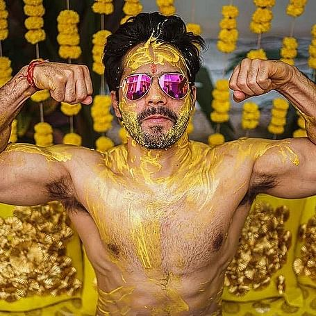 Varun Dhawan shares pictures from his Haldi ceremony - can you spot the filmy twist?