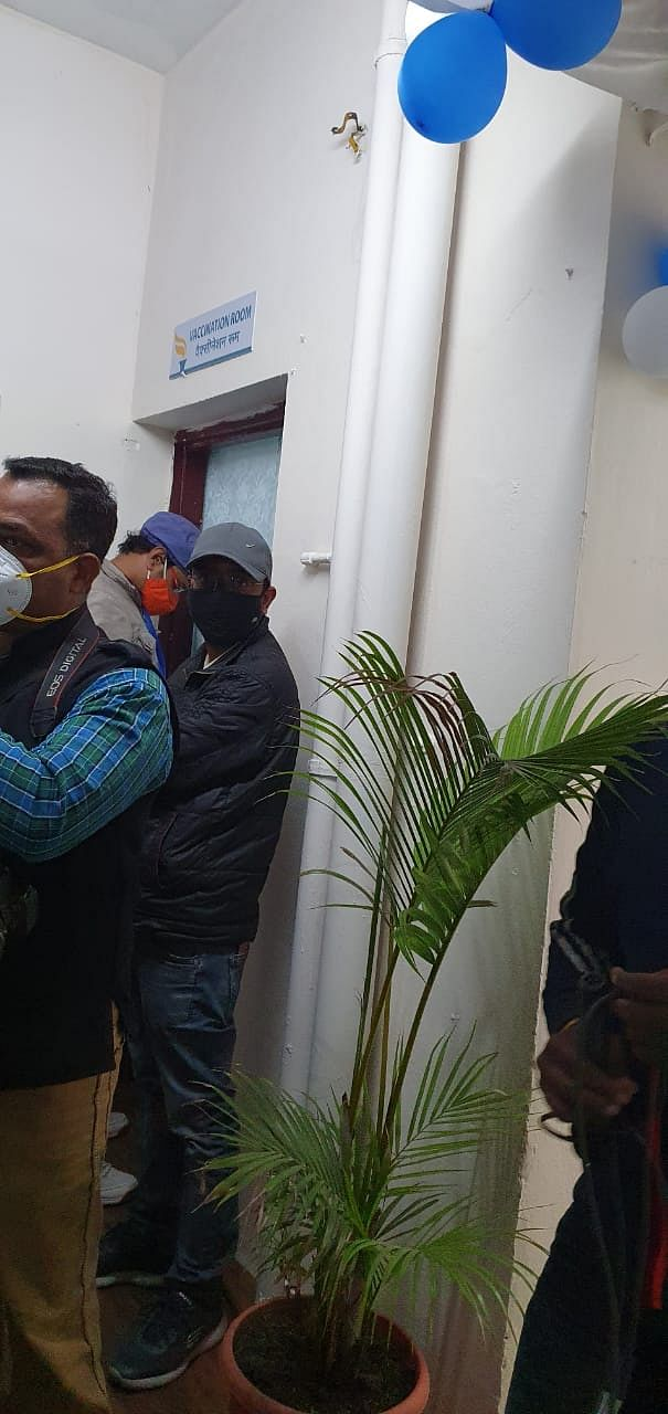 Doors were shut at ESIC hospital when vaccination began