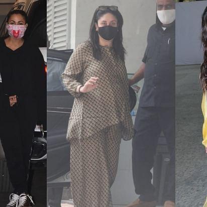 In Pics: Malaika Arora, Karisma Kapoor arrive at Kareena's Bandra residence; Sara Ali Khan, Shahid Kapoor spotted at Mumbai airport