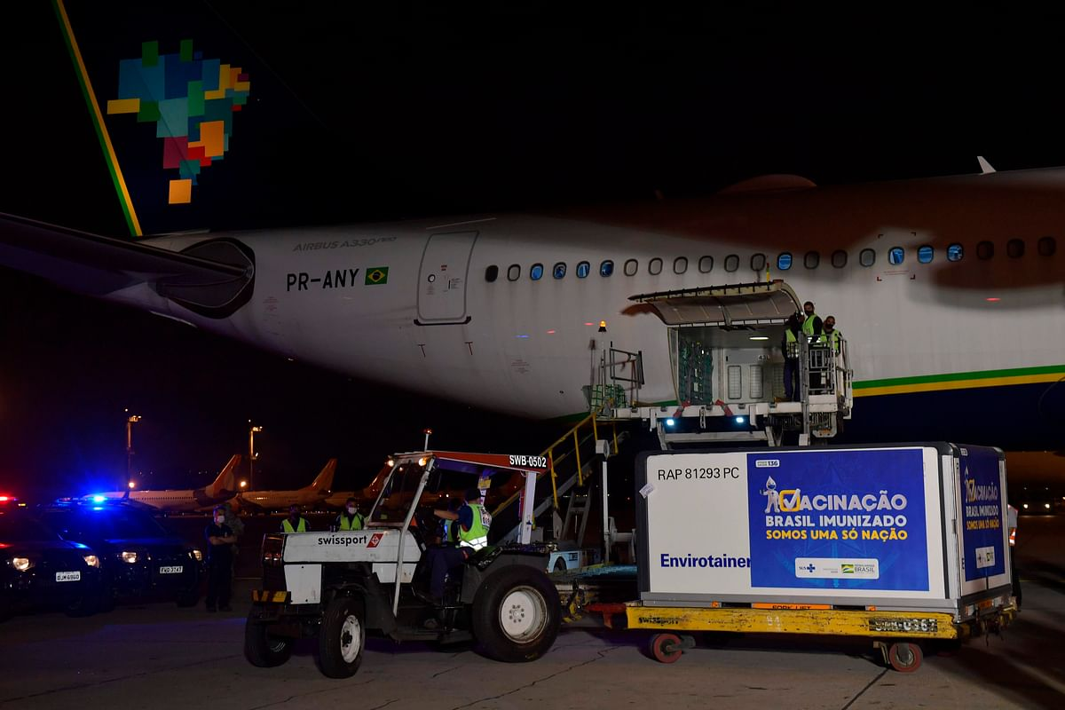 Consignment of India made COVID-19 vaccines arrives in Brazil
